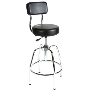 3010002 Shop Stool with Vinyl Back