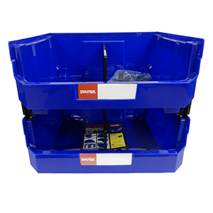 1010006 Hanging Bin 2 Pack Stacked Front View for website
