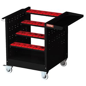1010025 CNC Tool Room Cart BT30 (NTW-4B) - edited to Black - for shopsol website